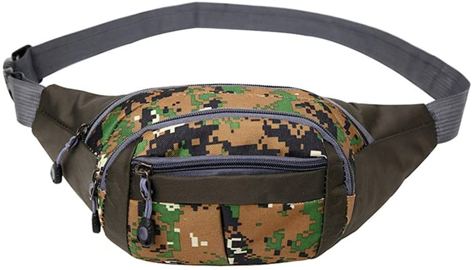 GEQWE Waist Bag Casual Adjustable Waist Bag Outdoor Fanny Packs Shoulder Straps for Outdoor Workouts for Travel Running Hiking Cycling Outdoor Sports Belt Bag (Color : D, Size : One Size)