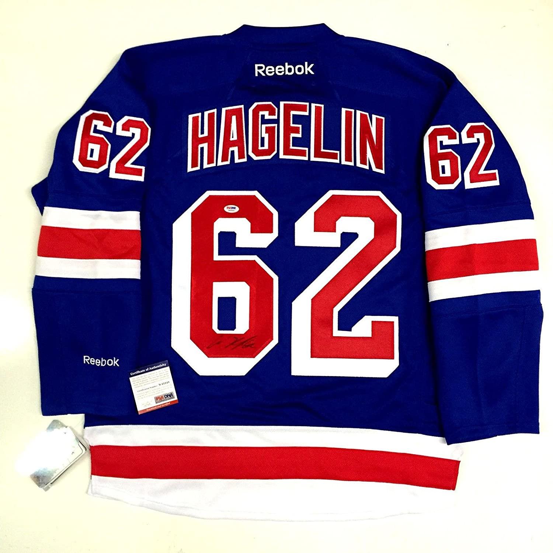 Carl Hagelin Signed New York Rangers Home Reebok Jersey Psa/dna Coa W45848 - Autographed NHL Jerseys