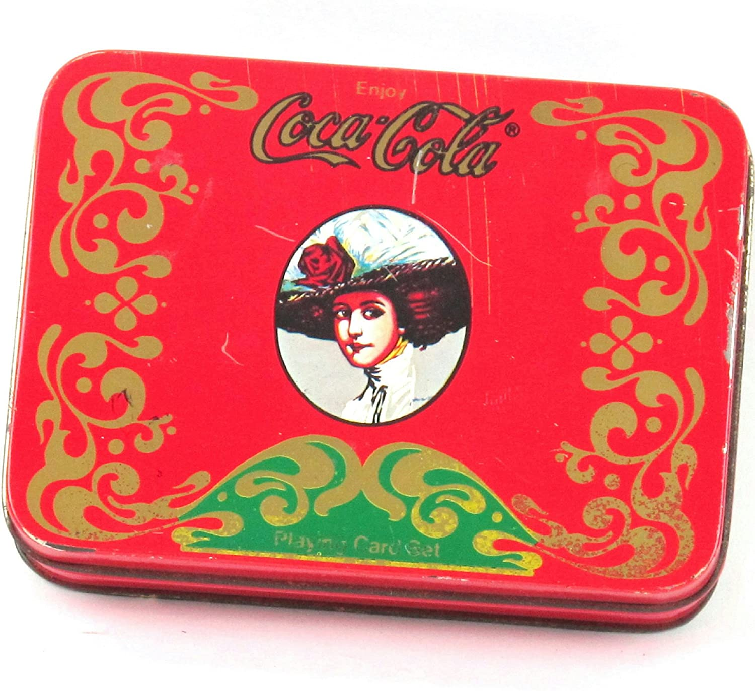 2 Sets Of Vintage Coca Cola Playing Cards In Tin Container - 41746