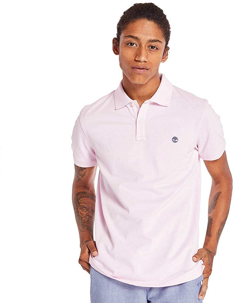 Timberland Men's Millers River Jacquard Polo Shirt in Purple