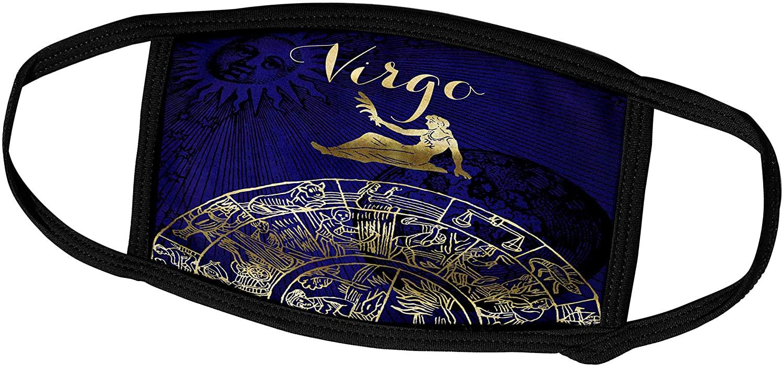 3dRose Face Mask Large, Virgo Symbol Astrology Wheel Zodiac Sign Horoscope