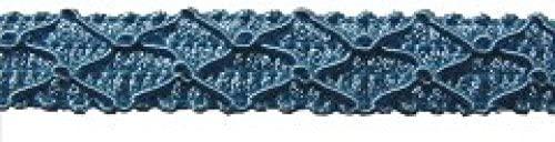15mm Essential Trimmings Gimped Furnishing Braid Trimming Light Blue - per metre