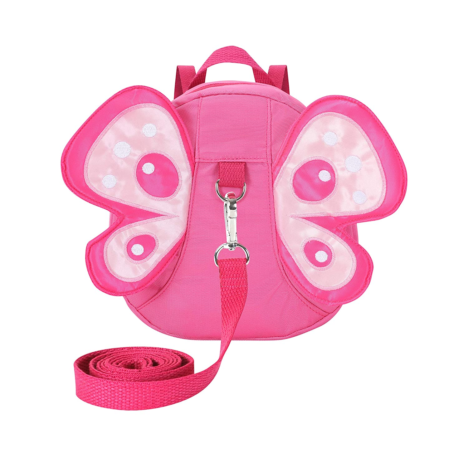 EPLAZA Toddler Walking Safety Butterfly Belt Backpack with Leash Kid Child Harness Strap Bag (Butterfly Backpack Rose)