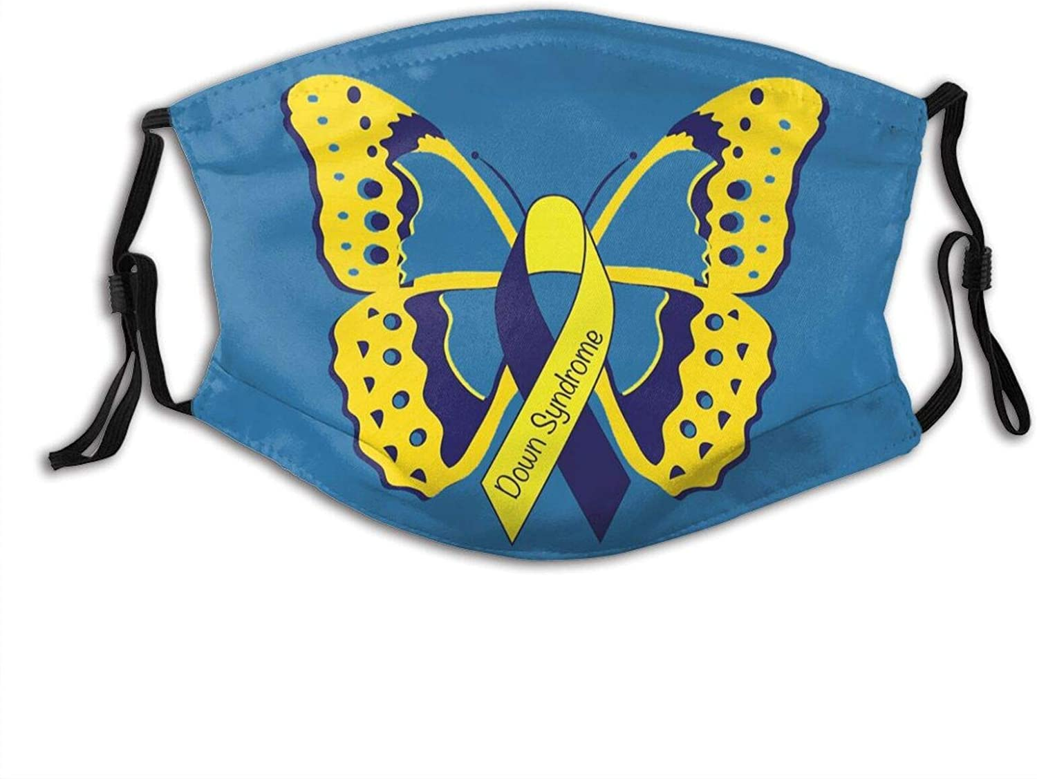 down Syndrome Day Personas Face Mask Decorative Masks Balaclava Bandana Cloth -World Down Syndrome Day Awareness Butterfly 2-Christmas masks Christmas face masks for adults Thanksgiving face mask