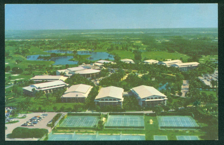 Doral Country Club Tennis Gulf Miami Florida Vintage Postcard