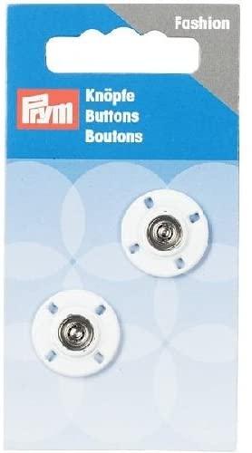 Prym Sew-on snap Fasteners Circle 18 mm, 9.3000000000000007 x 4.9000000000000004 x 0.5 cm, White