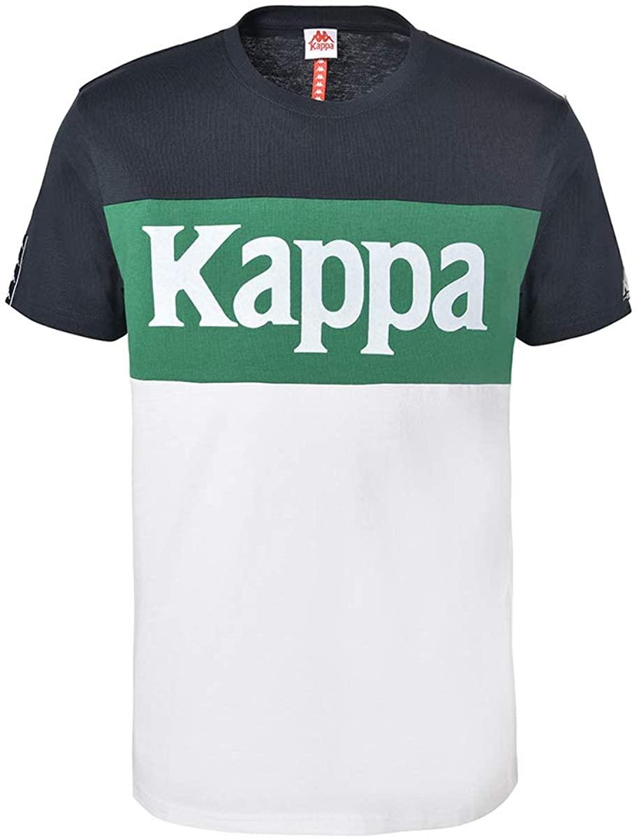Kappa Irwing Auth Tee T-Shirts & Polo Shirts Men Blue/Green/White - XL - Short-Sleeved T-Shirts Shirt