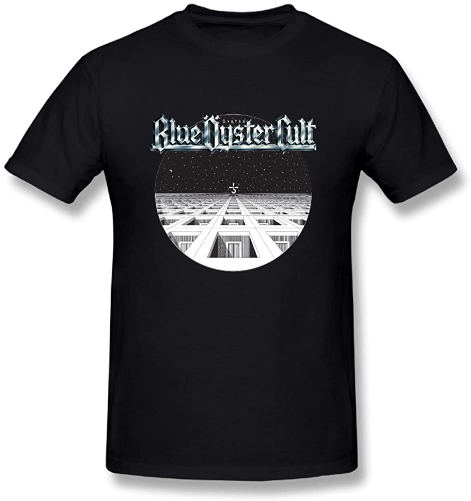 UrsulaA Men's Casual Blue Oyster Cult T Shirts Black
