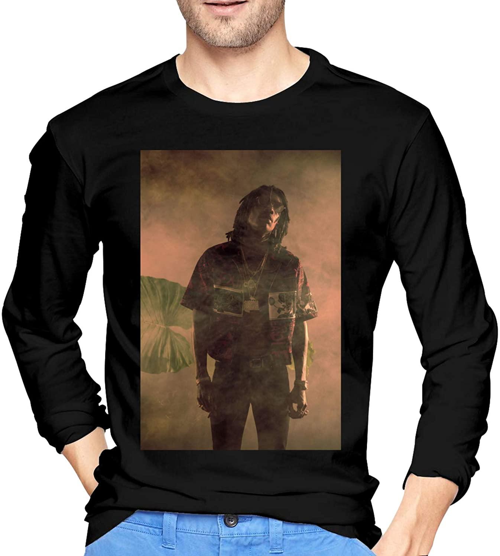 Wiz Khalifa Men's Long Sleeve T-Shirt for Autumn and Winter Fashion Men's Wear Black