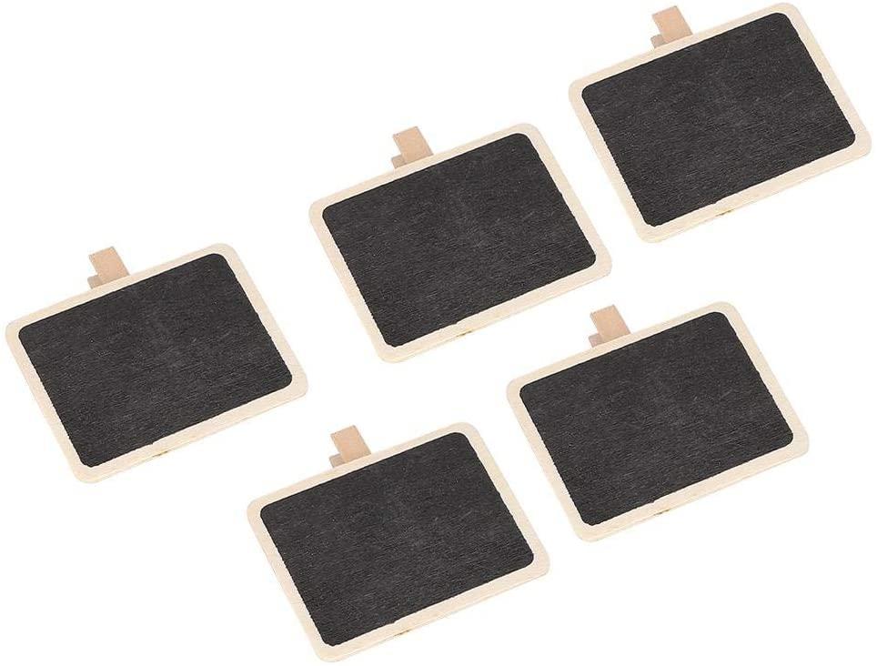 HERCHR 50Pcs Mini Chalkboard Wedding Signs Small Blackboard Clip Plant Label DIY Marking Tool Decoration