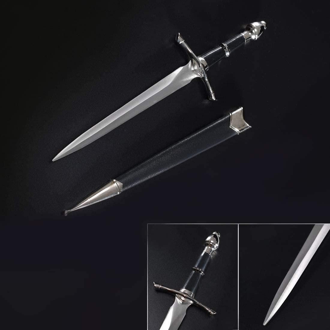 RUYI Sword-Medieval Sword,Battle Ready,Full Tang, Sharp,Knife,Scabbard