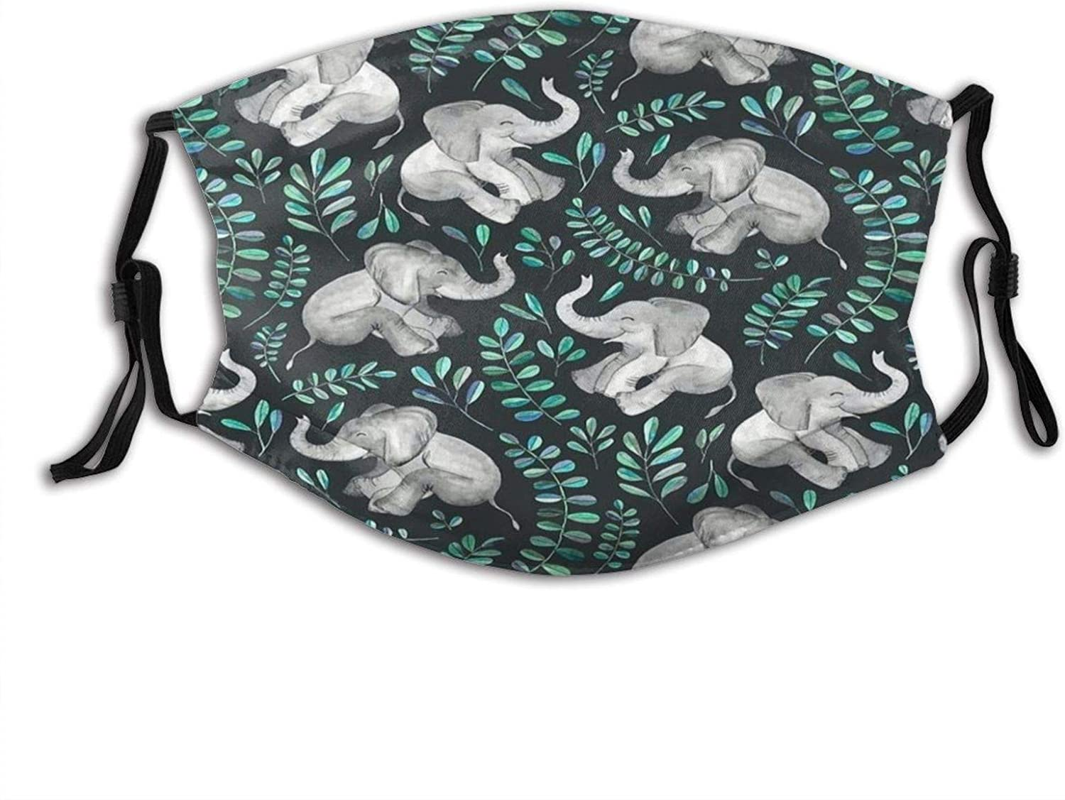 Happy Elephant,Dustproof Windproof Face Mask,Reusable,Washable Cloth,Face Cover,Cover for Dust Men Women