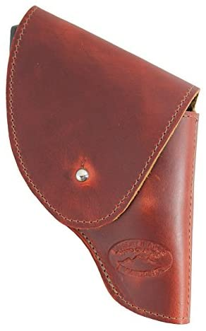 Barsony New Burgundy Leather Flap Holster for Snub Nose 2