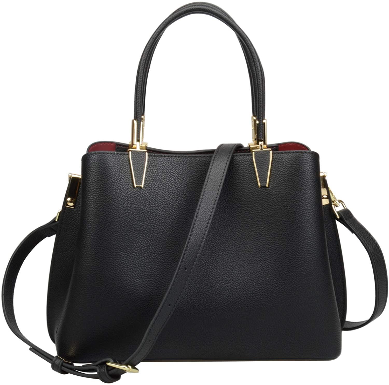 Ainifeel Womens Genuine Leather Top Handle Handbag For Work Totes Business Purse