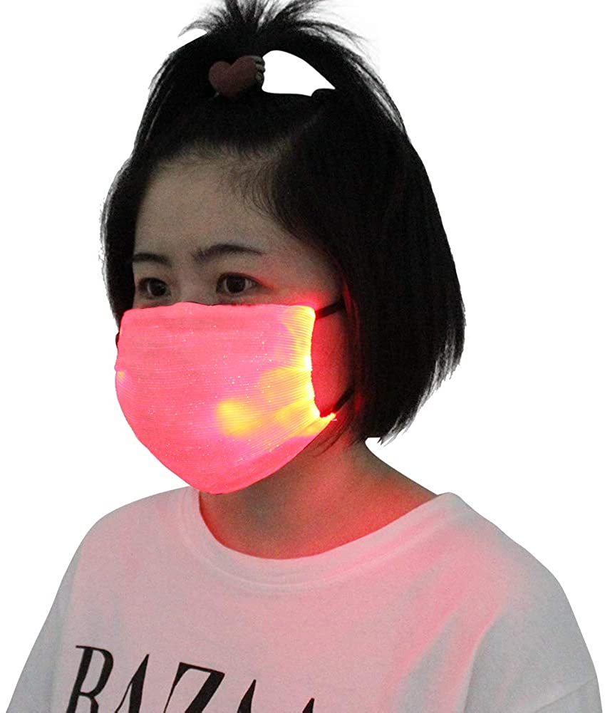 Maiheimoon LED Masquerade Mask Luminous Face Mask for Halloween, Christmas, Festival Party