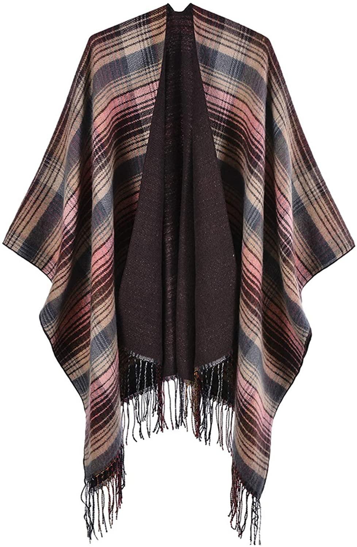 Women's Shawl Wrap Fashionable Cardigan Sweater Winter Warm Open Front Poncho Cape
