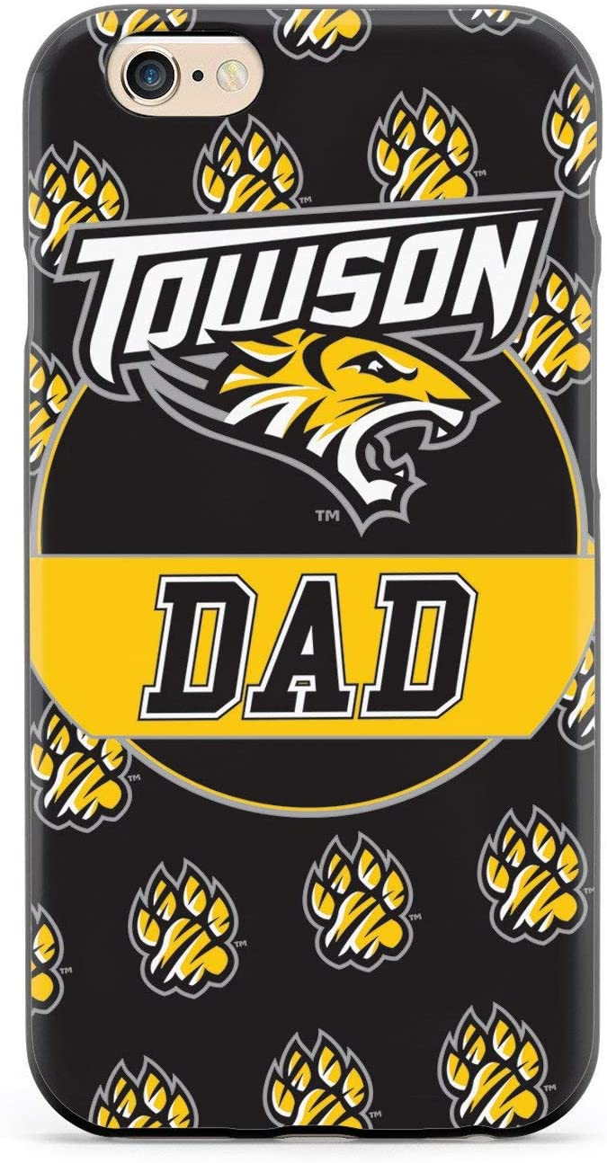 Inspired Cases - 3D Textured iPhone 6/6s Case - Rubber Bumper Cover - Protective Phone Case for Apple iPhone 6/6s - College Dad - Towson University Tigers