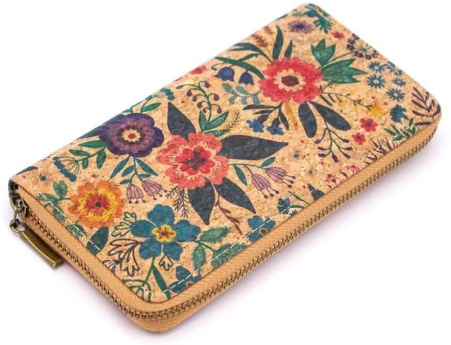 Handmade Cork zipper Wallet for Women, zipper wallet, Vegan Organic Sustainable Eco Friendly gift, Waterproof, Lightweight and Durable, Plant based product
