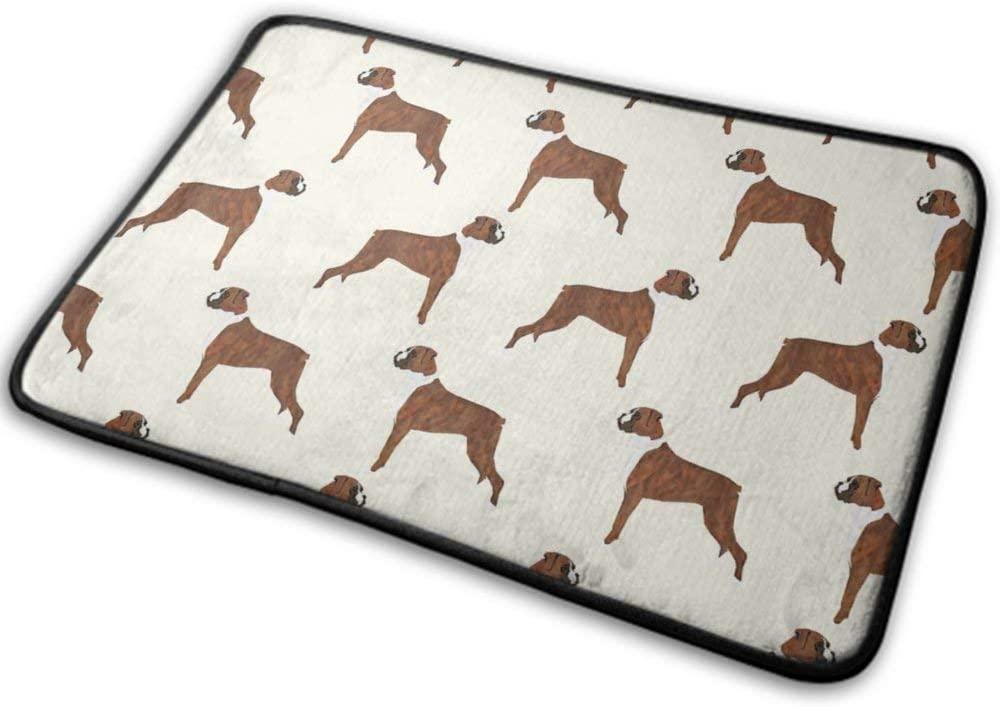 NiYoung Thick Memory Foam Bathroom Rug Doormat Non-Slip Soft Absorbent Bath Mats Comfortable Kitchen Floor Carpet 15.8x23.6 Inch (Boxer Dog Pattern Dog Lover Pet)