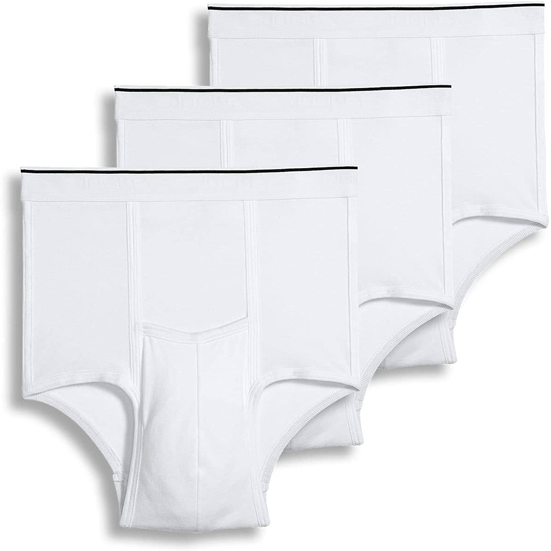 Jockey Men's Underwear Pouch Brief - 3 Pack, White, L