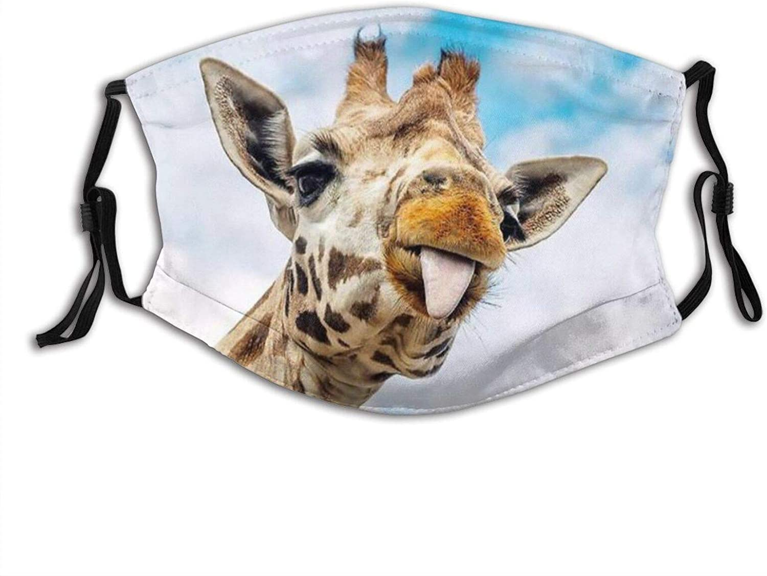 Funny Giraffe Face Giraffe-Face Mask Balaclava, Washable&Reusable With 2 Filters, For Adult Women Men&Teens