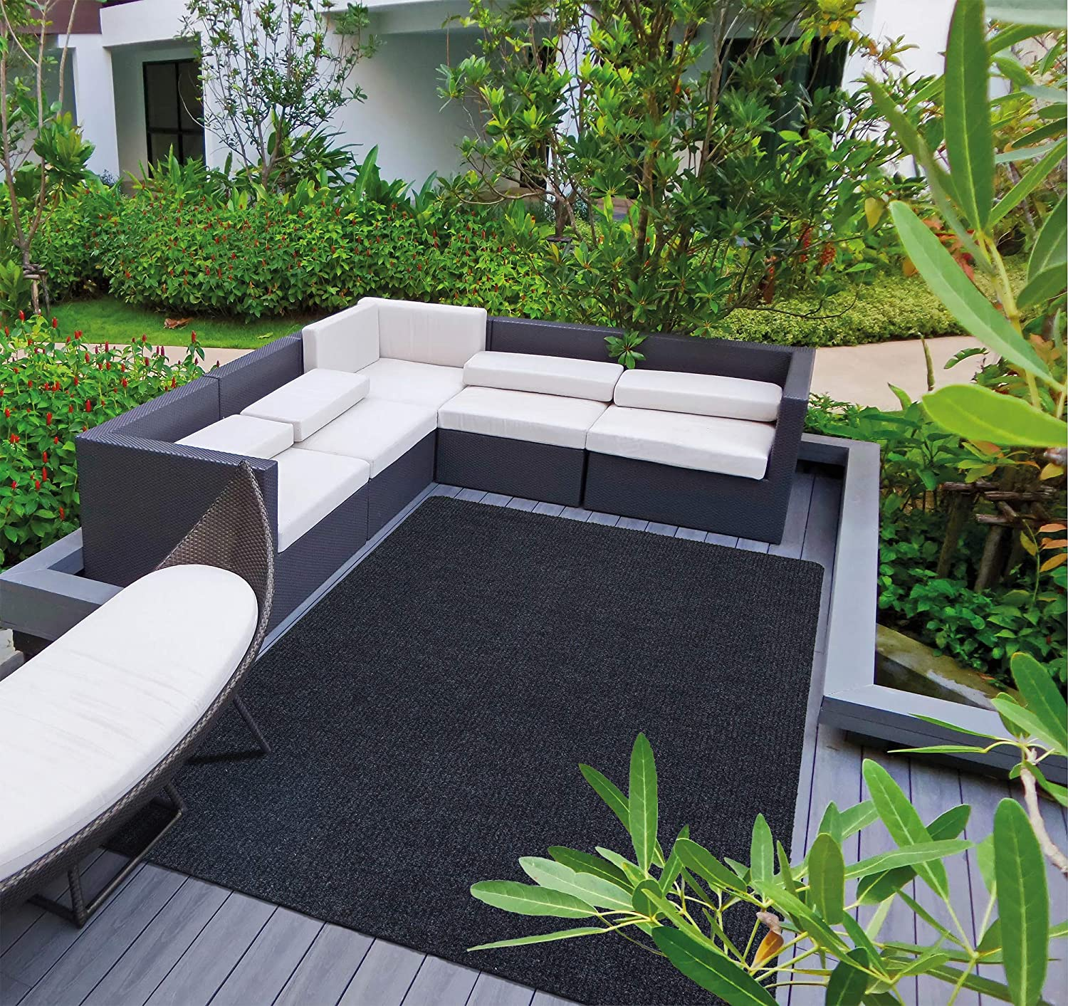 Sweethome Stores Rib Design Indoor/Outdoor Non-Slip Stair Treads and Rug