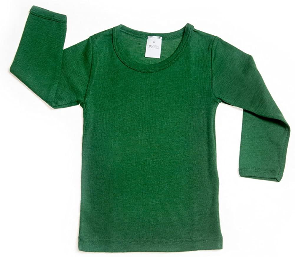 Hocosa of Switzerland Little Kids Organic Wool-Silk Long-Sleeve Underwear Shirt