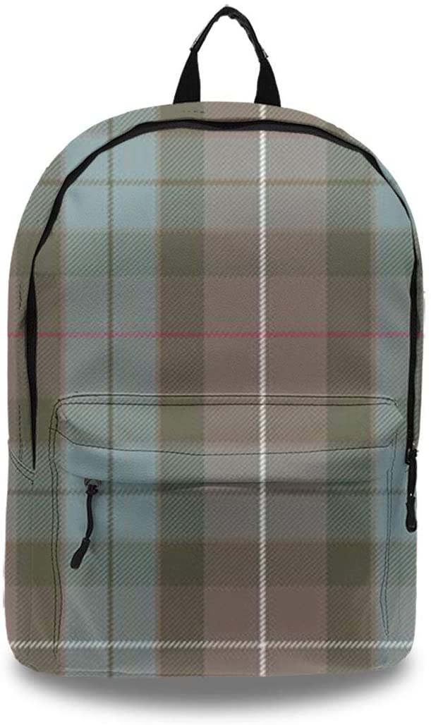 Women's Soft Artificial Leather Backpack - Lightweight Anti-Theft Laptop Bags Fraser Hunting Weathered Tartan Travel Rucksack Water Resistant for College Camping Picnic Office