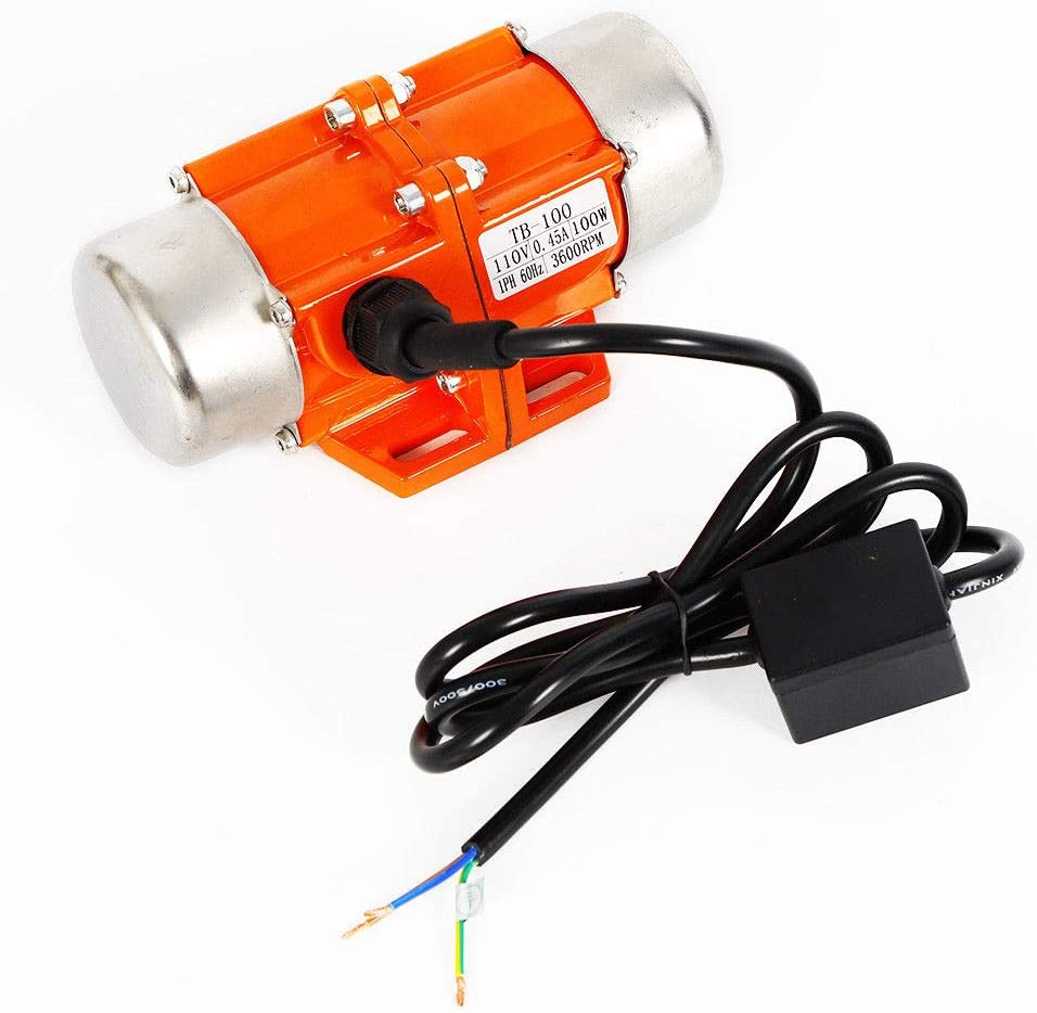 Vibrator Motor Vibration Motor Temperature Resistance Pure Copper Enameled Wire,Industrial Single Phase Asynchronous AC Vibration Motor (1 phase 100W)