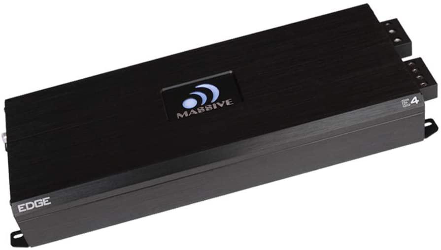 Massive Audio E4 - Car Audio 4,000 Watt Nano Edge Series, Monoblock Car Amplifier, Bass Boost, 1 Ohm Stable