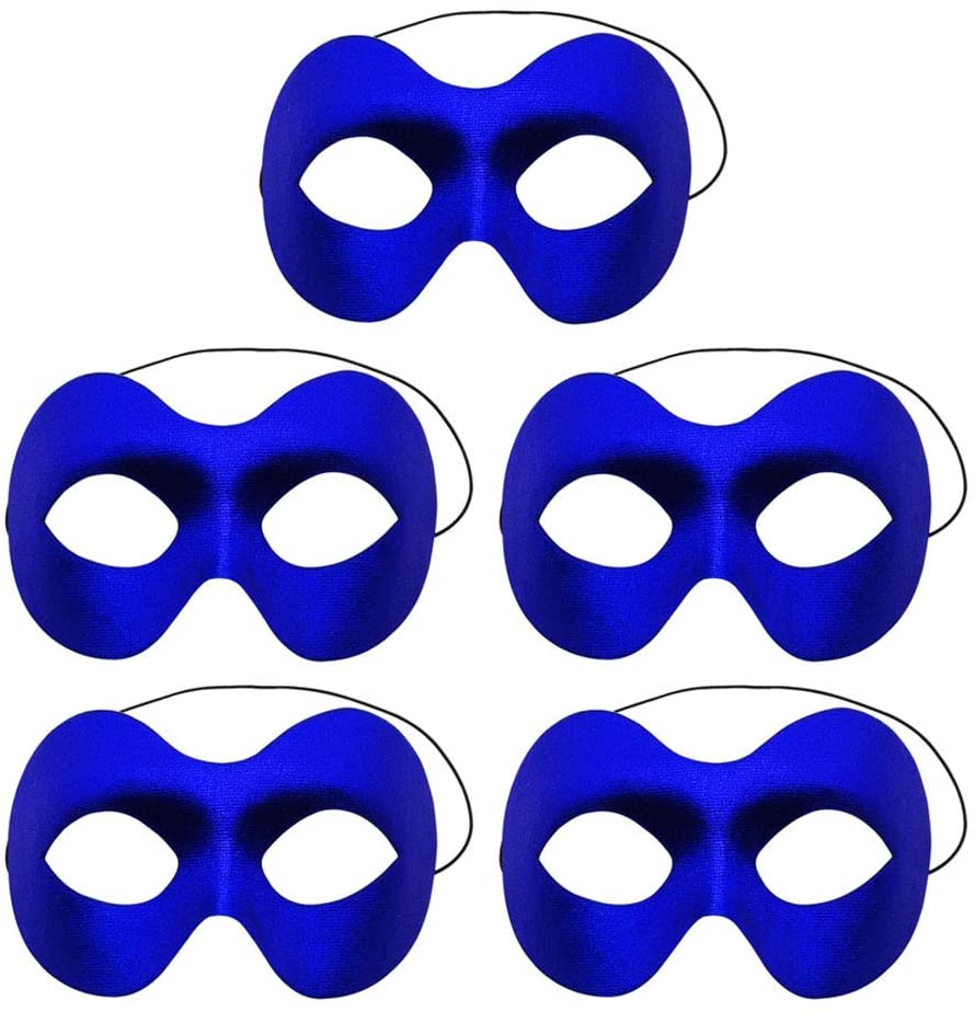 Simple polymer 5 Pcs Unisex Retro Masquerade Mask Face Mask Venetian Mask Half face Mask for Fancy Dress Costume Halloween Party,Blue