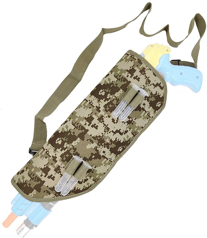 Saking Canvas Sheath Holster for Bug Salt Fly Gun 2.0/3.0 - with Extra 4 Salt Tubes & Shoulder Strap (Camo)