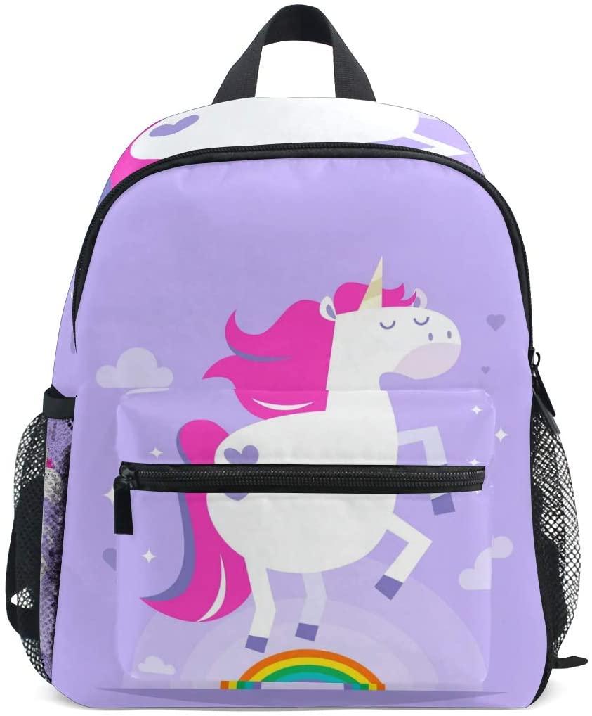 Kids Backpack Rainbow Unicorn for Toddler Boy Girls Age 2-7