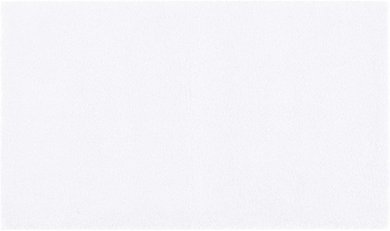 MADISON PARK SIGNATURE Marshmallow Bathroom Rug Non Slip, Luxrurious Plush Mat, Absorbent, Quick Dry, Spa Design Bath Room Décor, 24x40, White