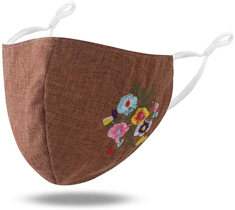 1 Pcs Pomobie Floral Theme Facemask | Reusable Washable & Anti-Haze Dust Face Bandanas | for Adults