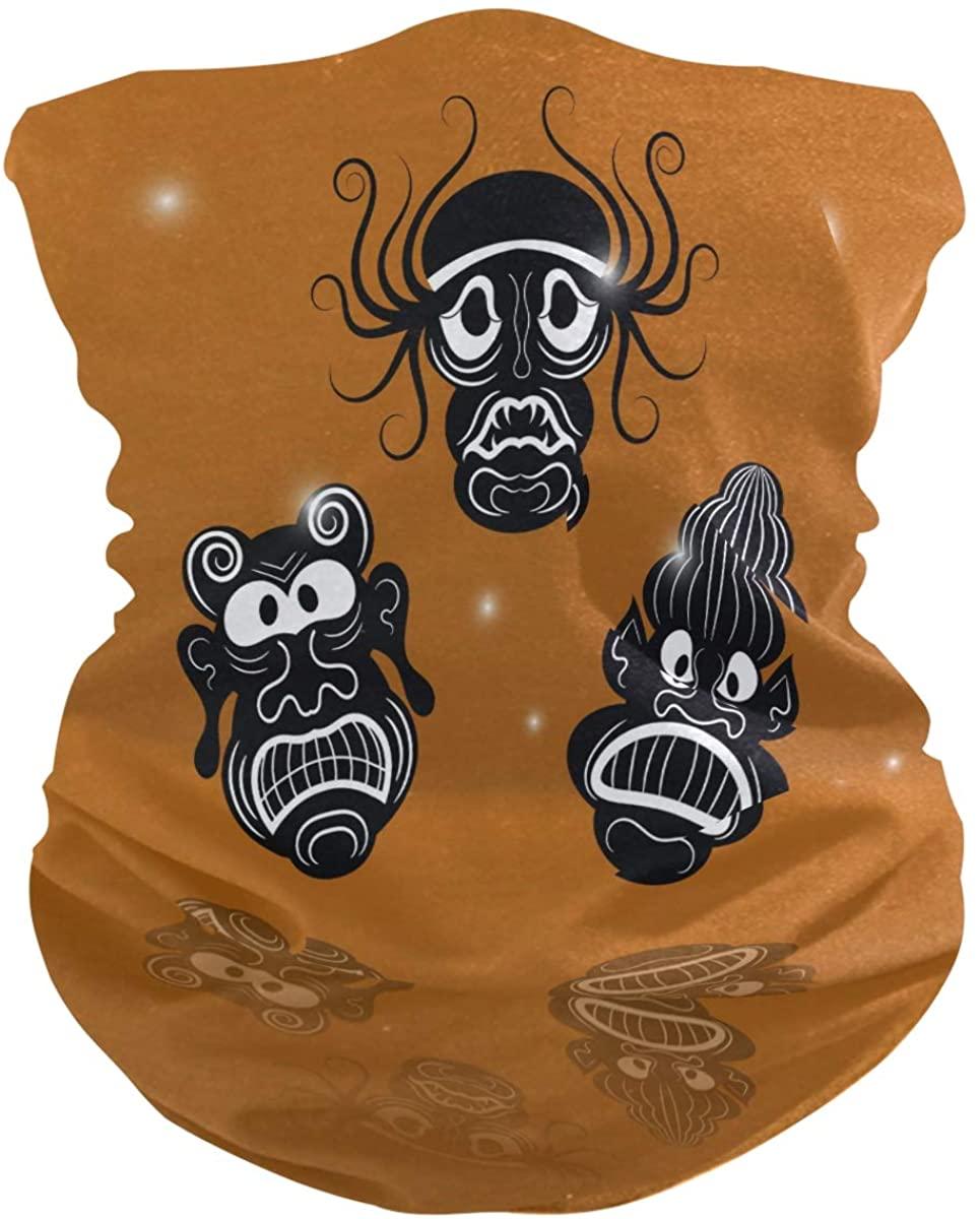 SUABO Mouth Cover Bandanas for Men Black Masks Neck Gaiter Mask Balaclava Hairband for Women Face Scarf