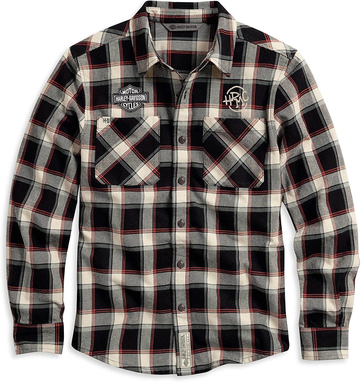 Harley-Davidson Men's Long Sleeve Plaid Shirt