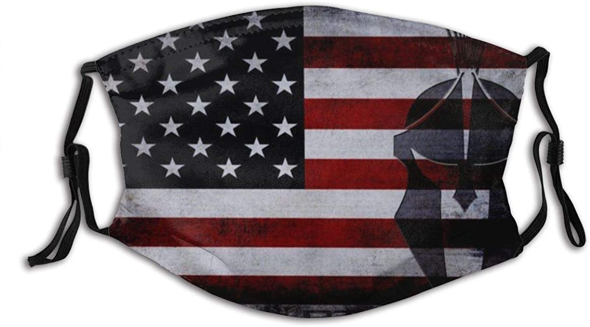 The American Flag Blue Lives Matter Washable Cloth Face Mask Balaclava Reusable Outdoors Fashion for Men Women