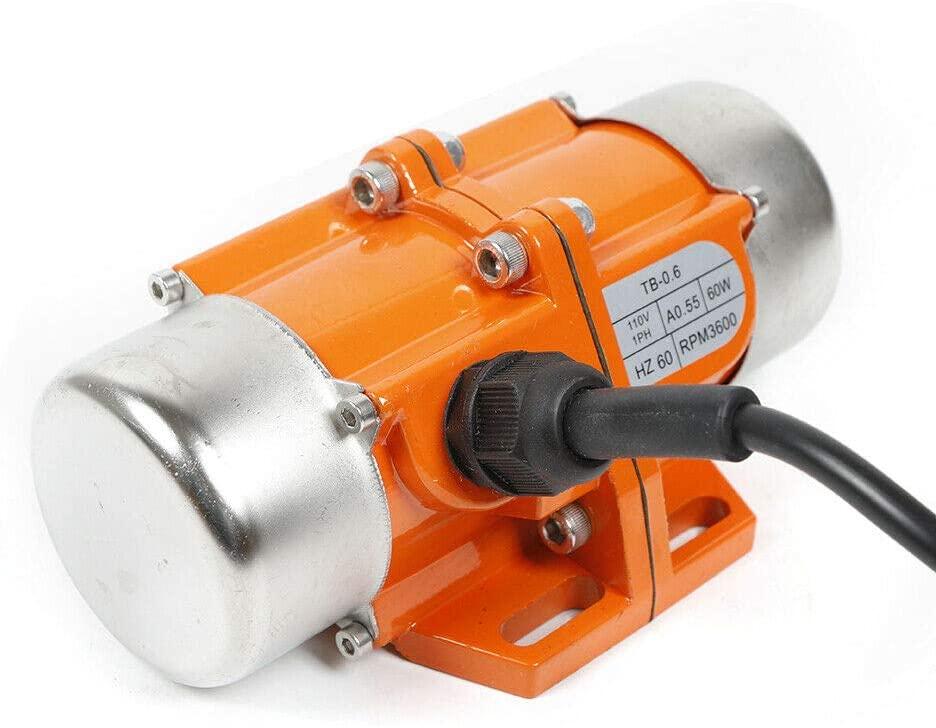 HYYKJ Concrete Vibrator Vibration Motor AC 110V 60W 3600rpm Single Phase Aluminum Alloy for Shaker Table Vibrating
