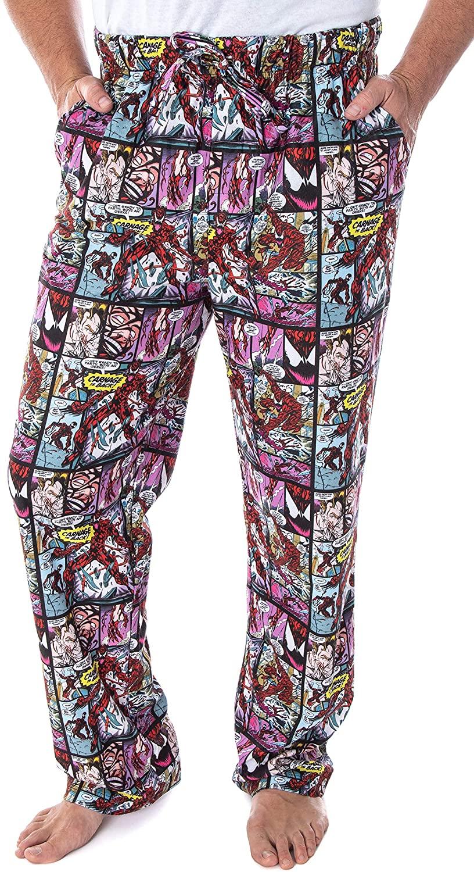 Marvel Men's Carnage Comic Book Allover Detailed Design Sleep Lounge Pajama Pants