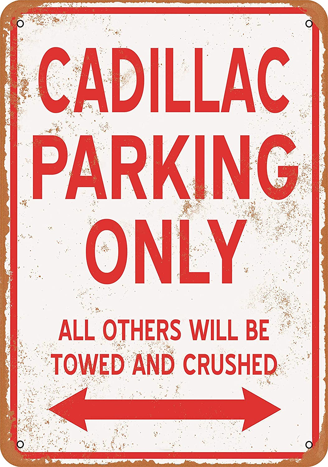 Wall-Color 7 x 10 Metal Sign - Cadillac Parking ONLY - Vintage Look