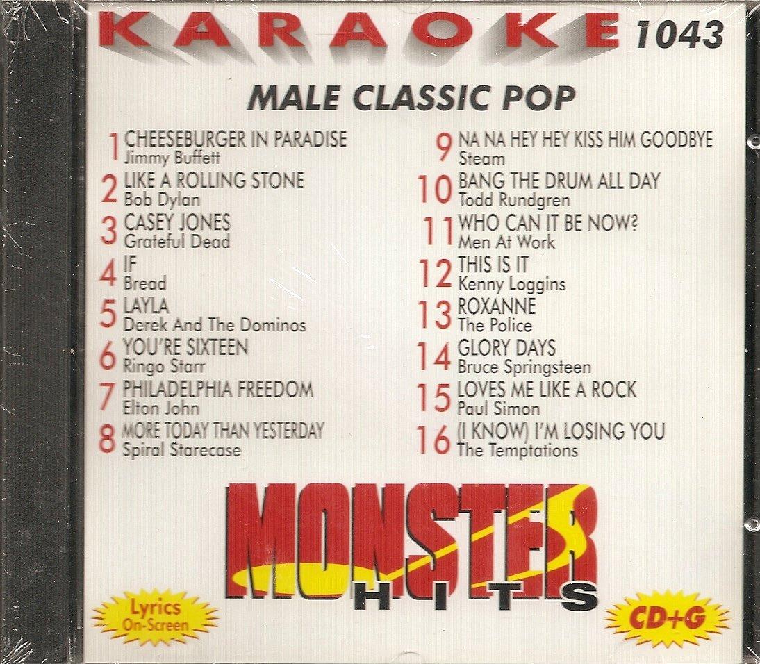 Monster #1043 Karaoke CDG MALE CLASSIC POP & OLDIES
