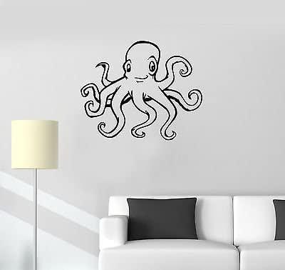 V-studios Wall Sticker Vinyl Decal Positive Octopus Tentacles Ocean Marine for Kids i317