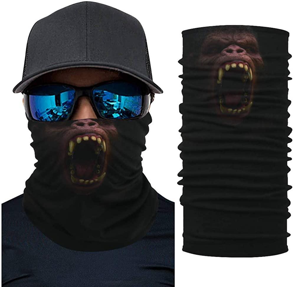 Balaclavas Face Mask Scarf Bandana Animal Cool Neck Gaiters for Men Women