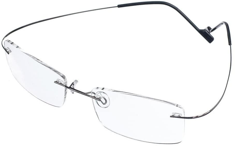 Rongchy Super Light 100% Titanium Working Rimless Reading Glasses +1.50 Strengths