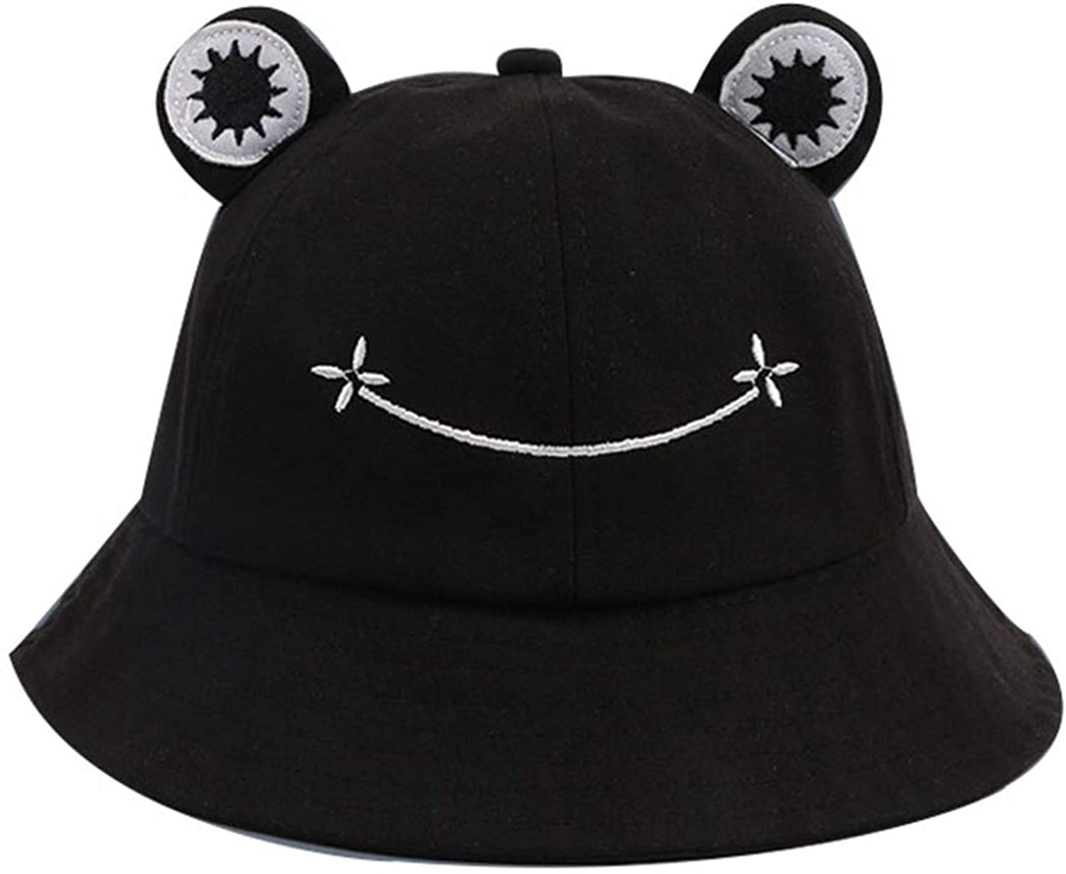 DAYUANDIAN Cute Frog Bucket Hat Fishermen Hat Sun Protection Beach Caps Summer Outing Hat Wide Brim Hat for Kids Adults