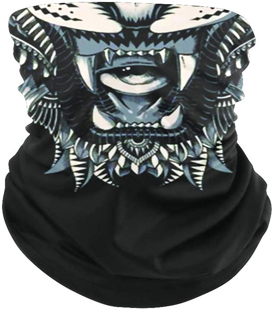Balaclava Face Mask Neck Gaiter Tiger Bandanas for Out Doors, Festival