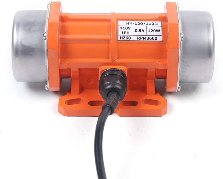 110V/120W 1PH Concrete Vibration Motors Aluminum Alloy 1.63A Vibrator Vibrating 3450RPM for Mixers Shaker Table