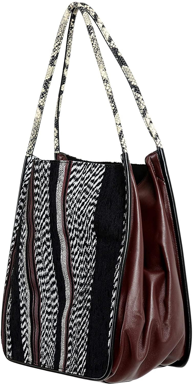 Proenza Schouler Womens Canvas Leather Extra Large Tote Handbag Shoulder Bag