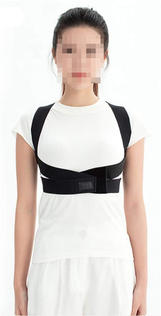 Clavicle Chest Back Support Brace for Improves Posture Adjustable Upper Back Brace Straightener for Man Women